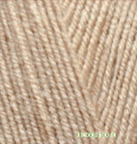 Пряжа Lanagold FINE (Alize) 585 Молочно-бежевый
