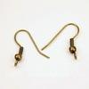 Швензы - крючки c шариком и пружинкой, 20 мм (цвет - античная бронза), 5 пар