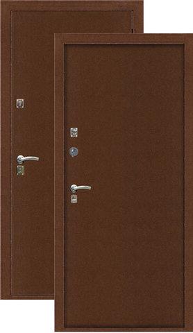 Дверь входная T-1 стальная, медь, 2 замка, фабрика Арсенал