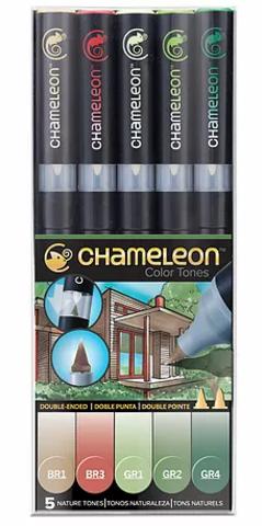 Набор маркеров Chameleon Nature Tones, природные тона, 5 шт.