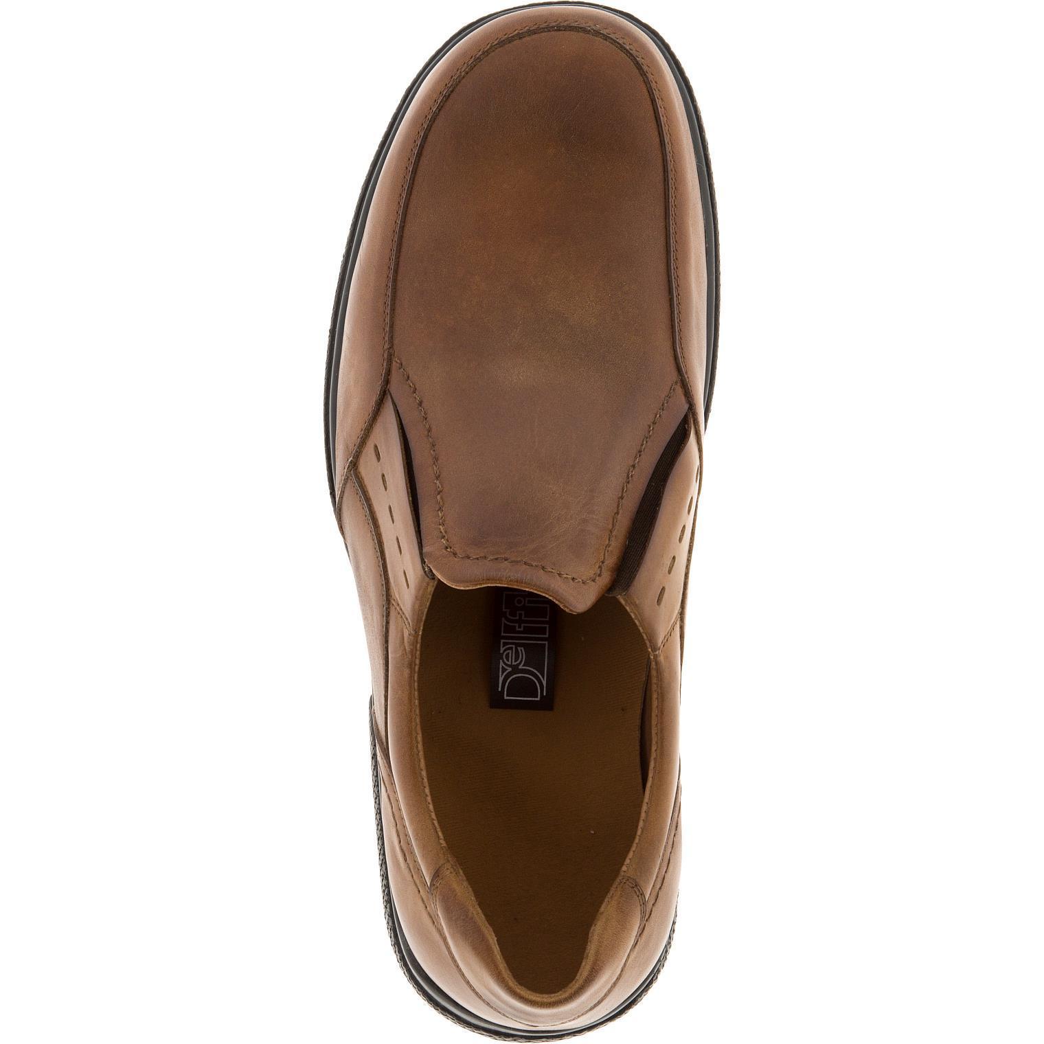 582367 полуботинки мужские коричневые (коньяк) больших размеров марки Делфино