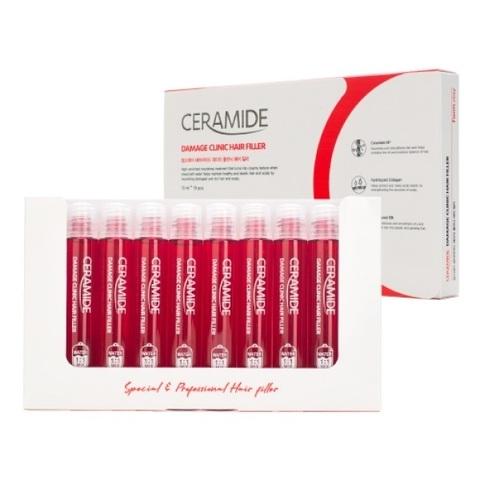 Филлер восстанавливающий для поврежденных волос с керамидами FarmStay Ceramide Damage Clinic Hair Filler 13млx10шт