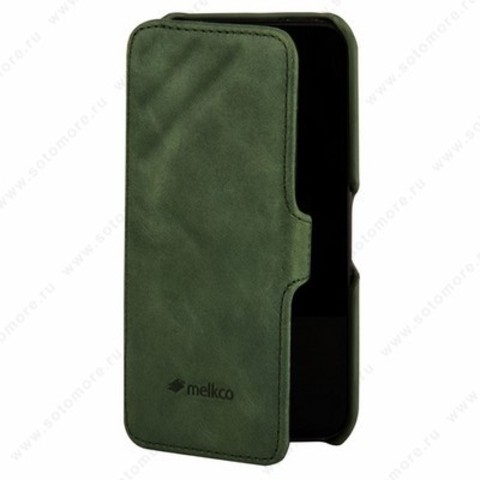 Чехол Melkco для iPhone 5sE/ 5s/ 5C/ 5 Leather Case Booka Type Craft Limited Edition Prime Dotta (Classic Vintage Green)