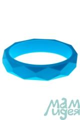 Молочный браслет из пищевого силикона МАМидея голубой