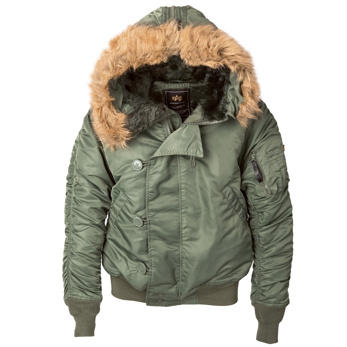 Куртка Мужская Alpha N-2B Flight Jacket (оливковая -S.green)