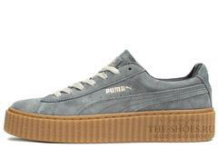 Кеды Женские Puma X Rihanna Creeper Grey Begie