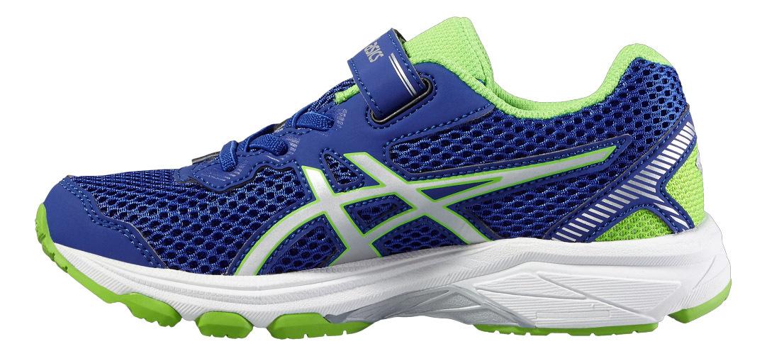 Детские кроссовки на липучке для физкультуры Asics GT-1000 5  PS (C620N 4501) синие