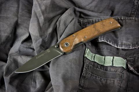 Складной нож Байкер-1 ШХ15 Черный Орех
