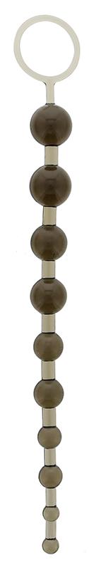 Анальные шарики, цепочки: Дымчатая анальная цепочка - 26,7 см.