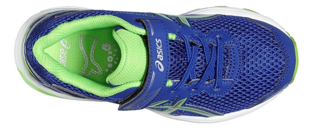 Спортивные кроссовки для детей Asics (Асикс) GT-1000 5 PS синие на липучке