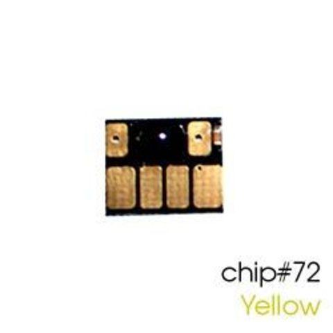 Чип желтый для картриджей (ПЗК/ДЗК) HP 72 Yellow для DesignJet T790, T795, T610, T2300, T770, T1300, T1200, T1120, T620, T1100 (авто обнуляемый)