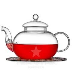 """Чайник заварочный """"Смородина"""" 1200 мл, стеклянный"""