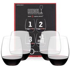 Набор бокалов для красного вина 4шт 600 мл Riedel O Buy 3 Get 4 Cabernet/Merlot