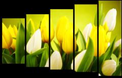 """Модульная картина """"Тюльпаны солнца """""""