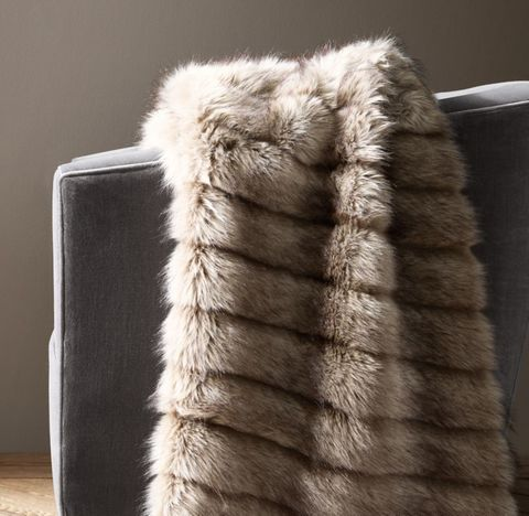 Channel Faux Fur Throw
