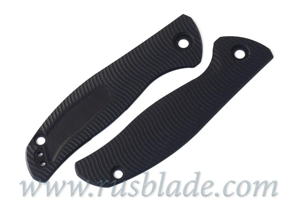 Shirogorov Set F3 СF black + G10 black handle scales