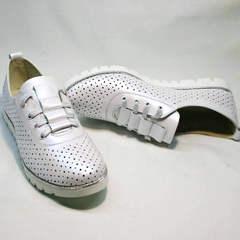 Летние туфли 41 размер женские Mi Lord 2007 White-Pearl.