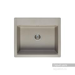 Мойка Акватон Делия 60 1A715232LD250 для кухни из искусственного камня, серый шелк