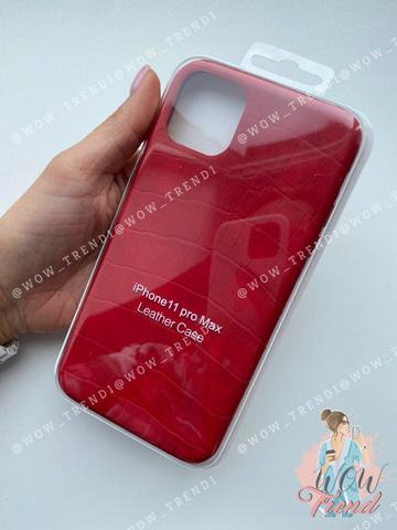 Чехол iPhone 11 Pro Max Leather case full /red/