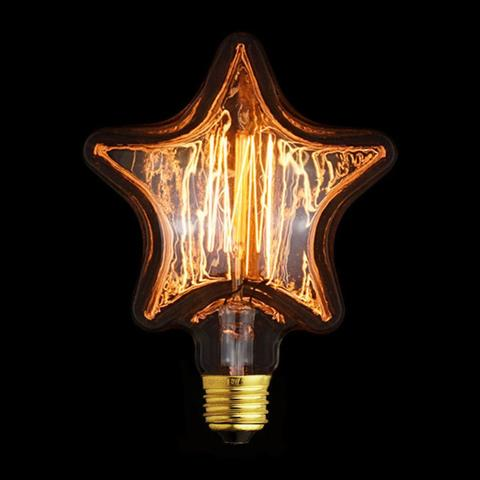 Лампа накаливания E27 40W звезда прозрачная 2740-S