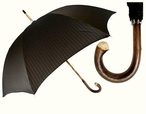 Зонт-трость Pasotti 476-1084-Brown Strip Chestnut with Root