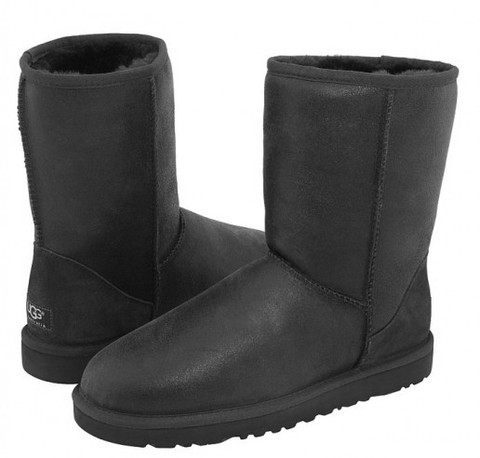 Ugg Mens Classic Short Metallic (Black)