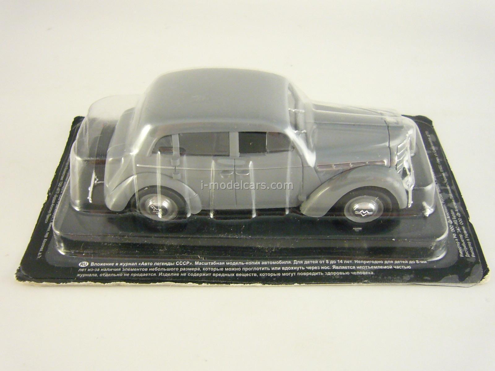 Moskvich-401 gray 1:43 DeAgostini Auto Legends USSR #64
