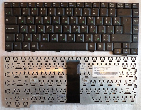 Клавиатура для ноутбука Asus F3 F3J F3JC F3JM-1A F3JP F3M T11 Series