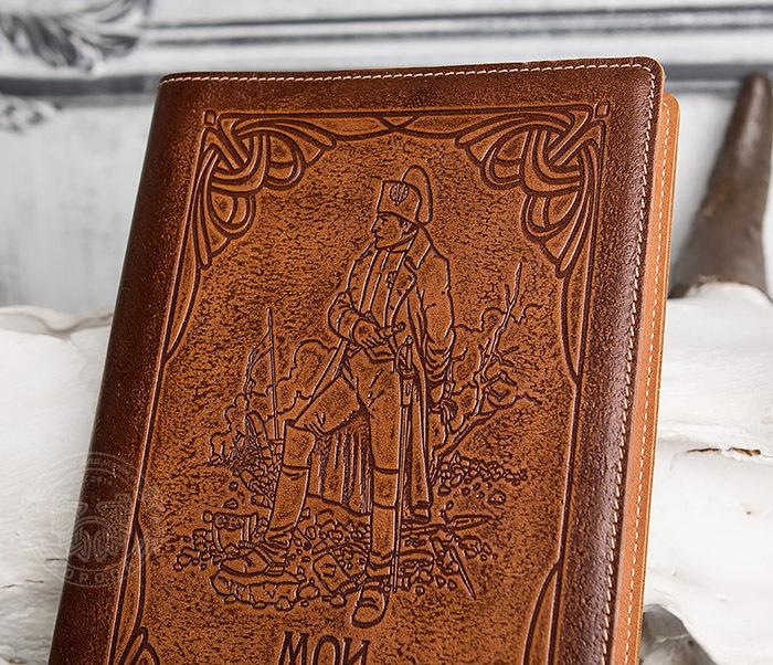 BY05-10-02 Прикольный кожаный ежедневник «Мои Наполеоновские Планы» (А5) фото 03