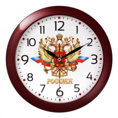 Часы настенные Troyka 11131176 круг., d290мм, плав.ход, пластик