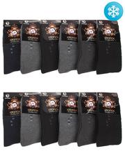 NO915 носки мужские махровые, 42-48 (12шт.), цветные