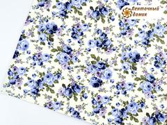 Кожа с сиренево-голубыми цветами