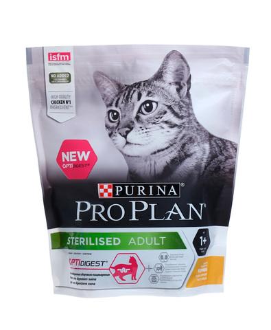Pro Plan сухой корм для стерилизованных кошек с чувствительным пищеварением (курица) 400 г