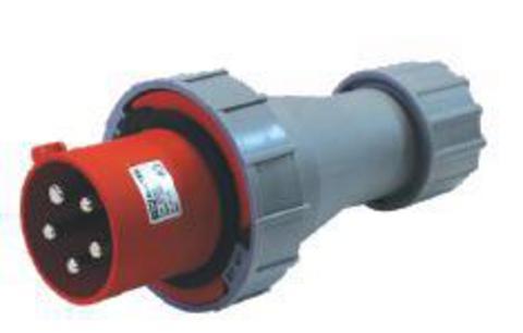 Вилка кабельная IP67 125А 3Р+РЕ 380В TDM