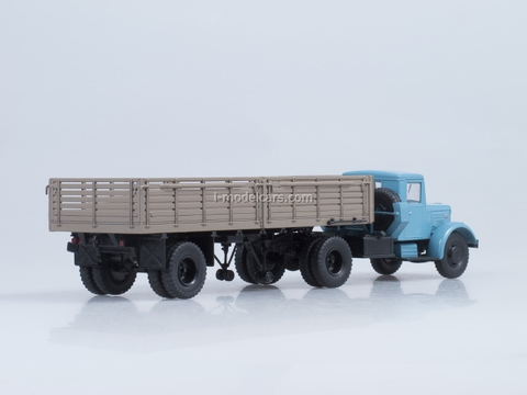 MAZ-200V with semitrailer MAZ-5215 blue-brown AutoHistory 1:43
