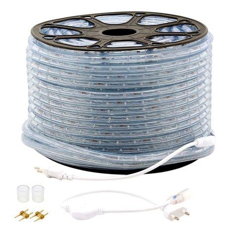 LED синий бухта дюралайт шланг DeLux купить оптом 13 мм шнур