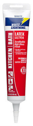 WHITE LIGHTNING KITCHEN/BATH LATEX ULTRA SILICONIZED ACRYLIC LATEX SEALANT