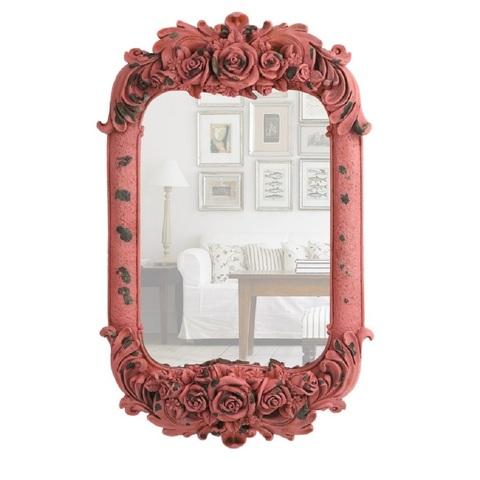 Зеркало настенное Decor розовое 85103AP