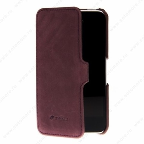 Чехол Melkco для iPhone 5sE/ 5s/ 5C/ 5 Leather Case Booka Type Craft Limited Edition Prime Dotta (Classic Vintage Purple)