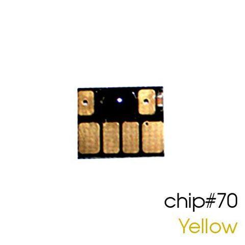 Чип жёлтый для картриджей (ПЗК/ДЗК) HP 70 Yellow для DesignJet Z2100, Z5200 (авто обнуляемый), независимый