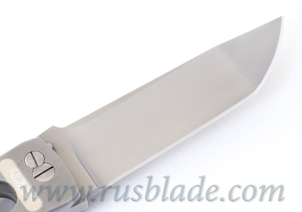Custom Urakov Brut Silver knife 440C Tanto