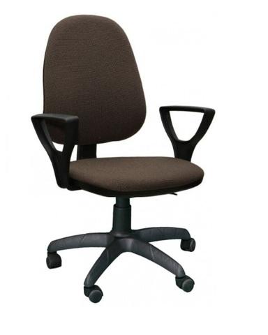 Кресло ПРЕСТЕЙН ткань темно-коричневая