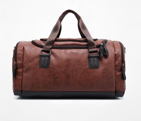 Мужская сумка коричневого цвета с ремнем на плечо
