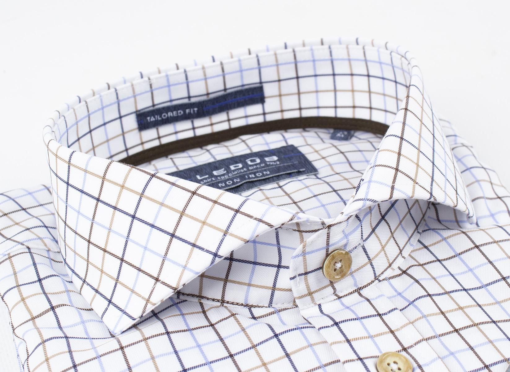 Рубашка Ledub tailored fit 0136883-910-000-000-TF-White