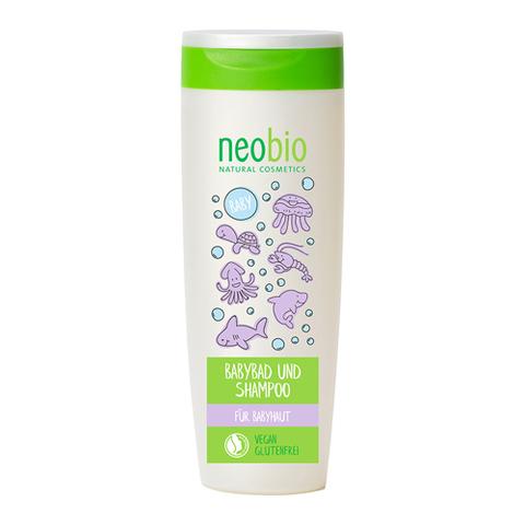 Neobio, Детский шампунь-гель для волос и тела с Био-Алоэ и Био-Календулой, 250мл