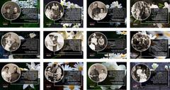 12 цветных почтовых открыток «Николай II и Александра Федоровна. Слова о любви» в наборе