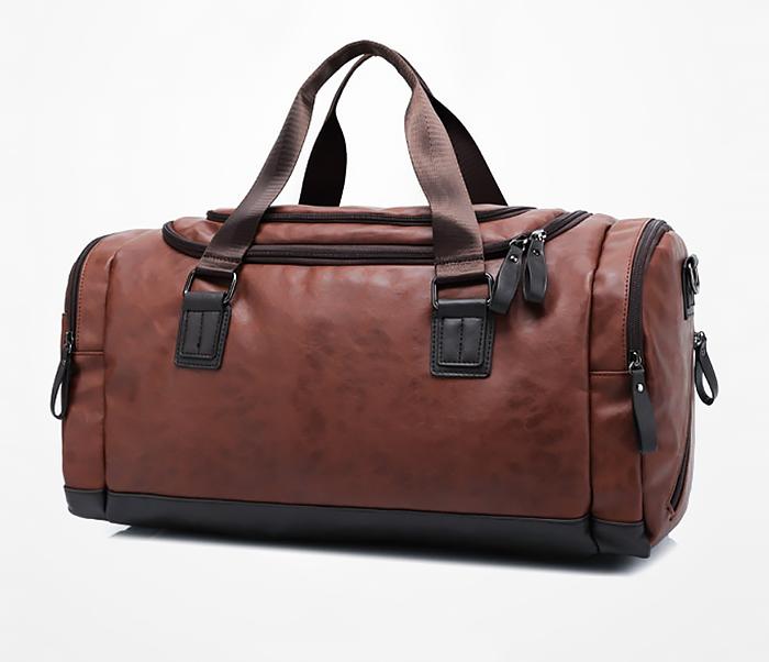 BAG426-2 Мужская сумка коричневого цвета с ремнем на плечо фото 02