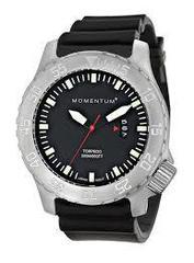 Часы для дайверов Momentum Torpedo Black Mineral (каучук)