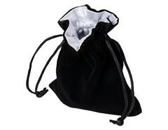 Мешочек Blackfire Velvet Dice Bag 10x12cm with Satin Lining (белая подкладка)
