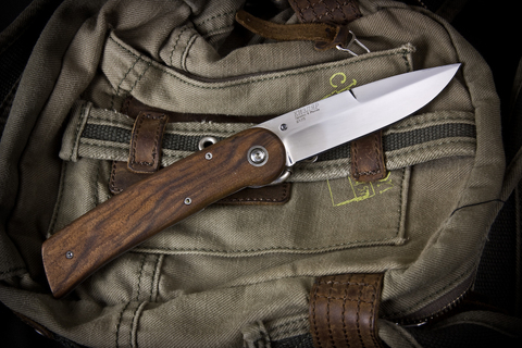 Складной нож Байкер-1 ШХ15 Полированный Орех